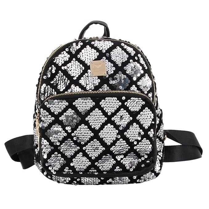 6ca829ec8192 Amazon.com: Liliam Women Shiny Sequin Backpack Daypack Shoulder ...