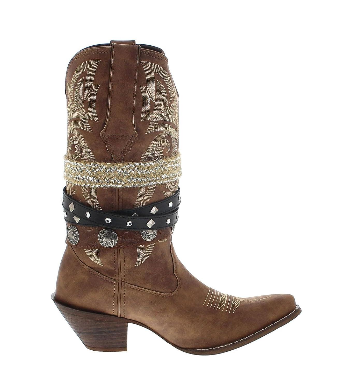 Durango Stiefel DRD0122 ACCESSORIZE Tan Damen Cowboystiefel Westernstiefel Braun Westernstiefel Cowboystiefel Damenstiefel 8514e1