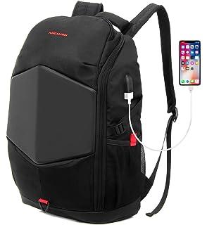 7e5b3a0a027c9 17 zoll Laptop-Rucksack Herren mit Regenschutz USB Ladenanschluß -  wasserdichter Gaming Backpack Rucksack Laptop