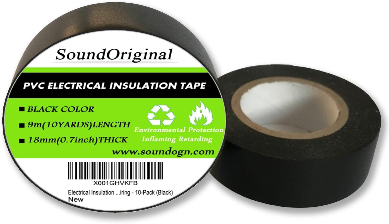 Good Quality 6Pcs Black 3M 1500 Vinyl Electrical Tape Insulation Adhesive Tape