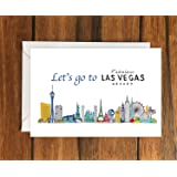 Lets Go To Las Vegas Greeting Card A6