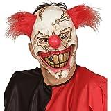 Careta payasito psicótico Máscara de terror payaso Mascarilla terror IT Complemento para disfraz de miedo Antifaz