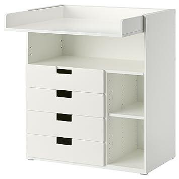 Ikea Wickelkommode ikea stuva wickeltisch mit 4 schubladen weiß amazon de spielzeug
