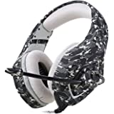 Camouflage PS4 Headset Bass Gaming Headphone Game Earphone Casque with Mic for PC Mobile Phone Xbox