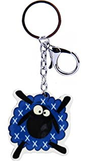 Scottish Multi Coloured Tartan Scottie Dog Scotland Bag Purse Keyring Charm