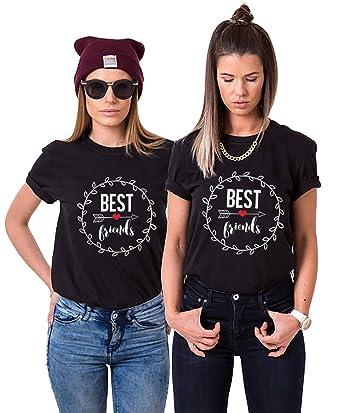 Best Friends T-Shirts für Zwei Damen Mädchen Beste Freundin BFF Freunde  Freund Tshirt mit 6cd1d64b75