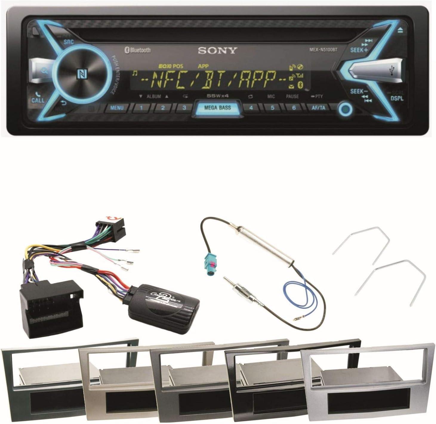 JVC Bluetooth 2DIN AUX CD MP3 USB Autoradio für Opel Astra H Corsa D Zafira B Kl