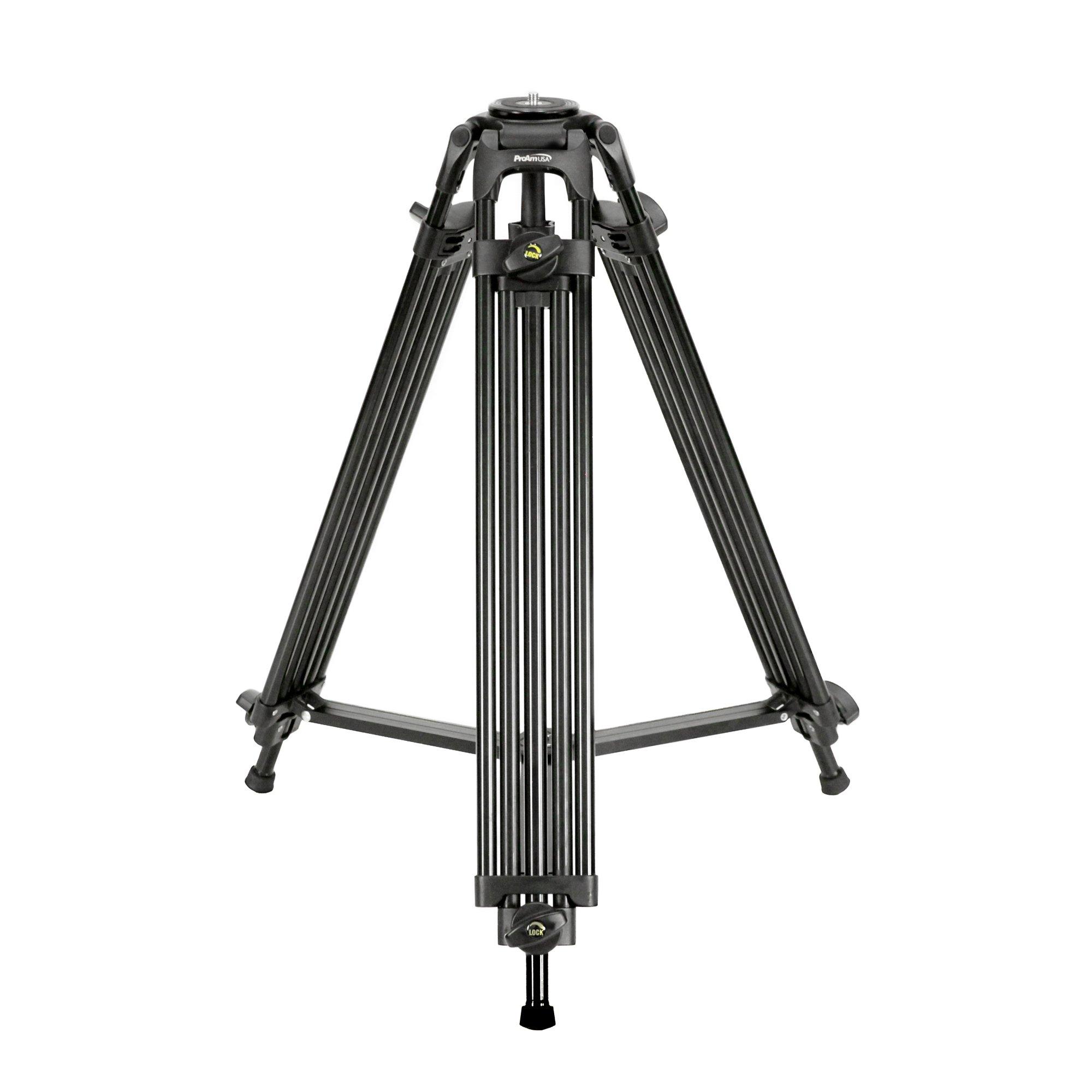 Professional Tandem Leg Tripod with 75mm Bowl Mount & Adapter by ProAm USA by ProAm USA