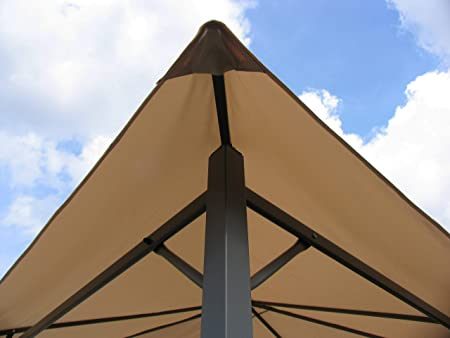 QUICK STAR Techo de repuesto para Gazebo de jardín 3x3m Beige ...