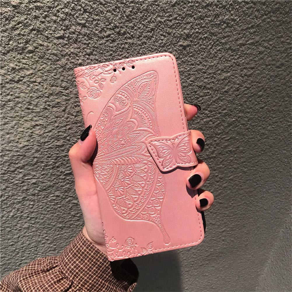 COTDINFOR Huawei Mate 20 Pro Funda para Regalo Ni/ña Mujer Glitter Diamond Bling Protectora Silikon Plating TPU Case con Kickstand Carcasa para Huawei Mate 20 Pro Rose Gold Glitter.