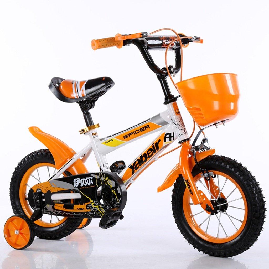 美しい 家チャイルドフォールド自転車3-6-8歳のベビーベビーカー12インチ14インチ16インチ18インチバイク (色 : オレンジ, サイズ さいず : 14Inch) B07CXG3YSB 14Inch|オレンジ オレンジ 14Inch