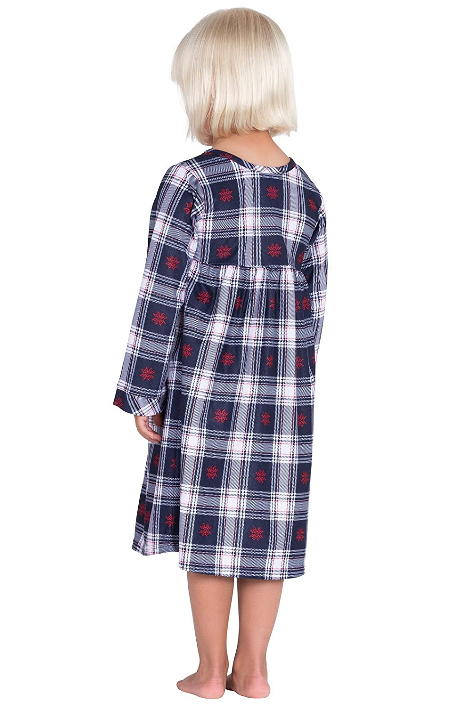 bb29641b8b6e Amazon.com  PajamaGram Toddlers  Classic Plaid Flannel Nightgowns  Clothing