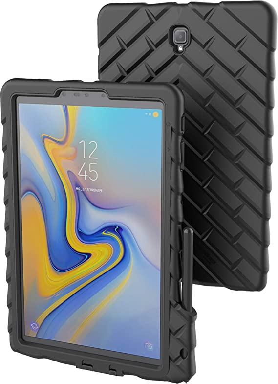 Amazon Com Gumdrop Droptech Case With S Pen Slot Designed For Samsung Galaxy Tab S4 10 5 Inch Tablet For Commercial Business And Office Essentials Black Rugged Shock Absorbing Extreme Drop Protection