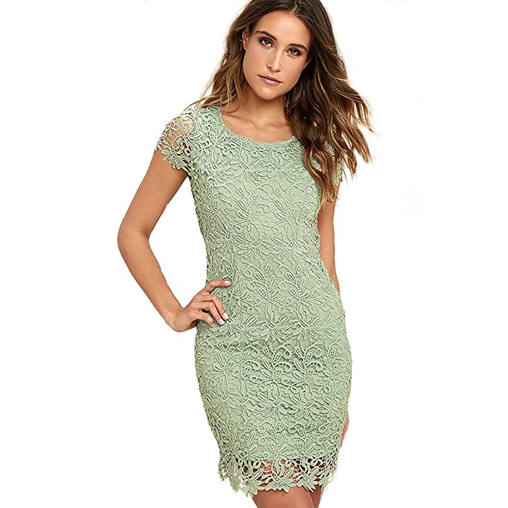 Sexy Halter Lace Dress Sleeveless Backless Bodycon Dresses for Prom Cocktail Vacation Party Special Occasions (S, Blue)