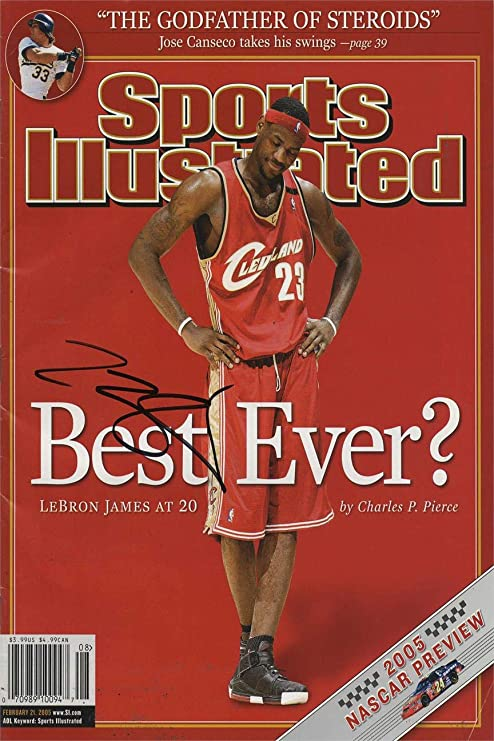 Best Ever? Framed LeBron James Sports Illustrated Autograph Replica Print