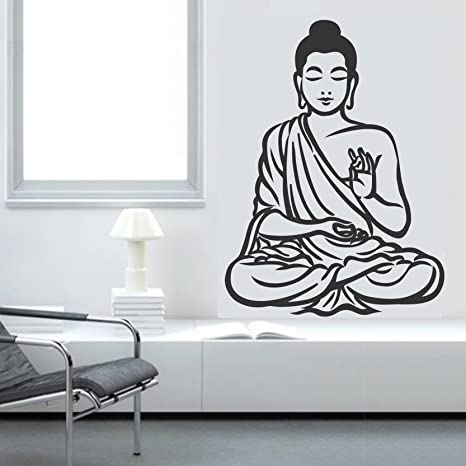 59caa1ff77c Buy Asmi Collections PVC Wall Stickers Meditating Black God Buddha Online  at Low Prices in India - Amazon.in
