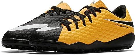 hot sales c1923 cb216 Nike JR Hypervenomx Phelon III TF - Zapatillas de fútbol Sala, Unisex  Infantil, Naranja