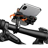 Ehpow Universal Bike Phone Mount Bike Holder Aluminum Alloy Bicycle & Motorcycle Handlebar Cradle Adjustable Fit iPhone X/8/8 Plus/7/6s/6/5s/5c/Samsung S7/S6/S5/Note 5/4/3