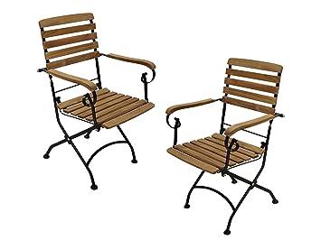 Set de 2 sillas plegables de Pati - Silla plegable con ...