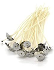 20 Pre Waxed Wicks For Candle Making Teacup / Medium Candles (LX18). 100mm Long.Quantity by Randall's Candles