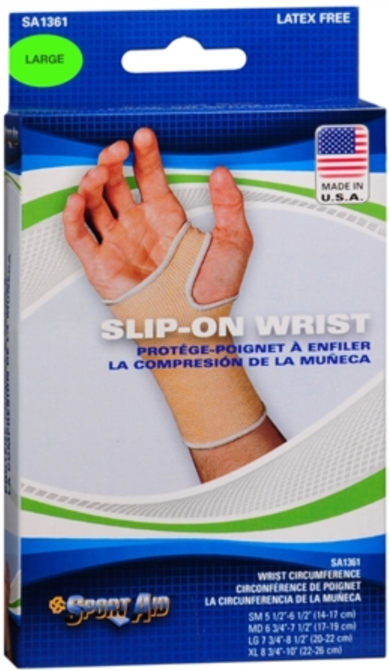 Sport Aid Slip-On Wrist Support LG 1 Each (Pack of 11) by SportAid