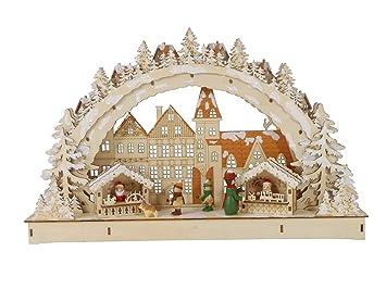 Weihnachtsdeko Schwibbogen.Klp Schwibbogen Led Lichterbogen Stimmungsleuchter Fensterbild Holz
