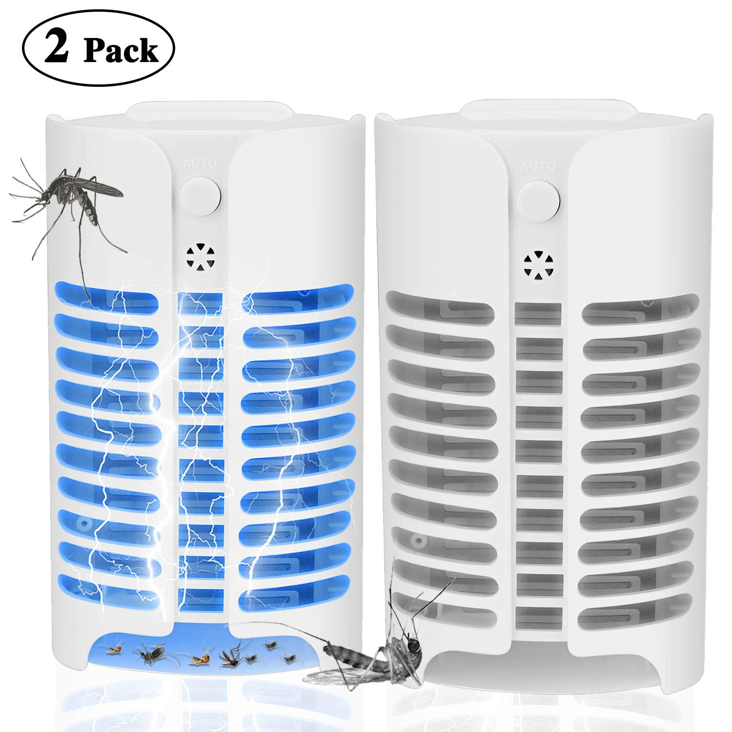 KAEN Electric Indoor Bug Zapper, Mosquito Killer, Insect and Fly Zapper Catcher Killer Trap with UV Night Sensor Light for Home, Office and Patio Indoor Use by KAEN