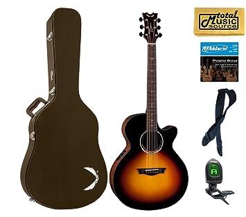 Dean Guitars Performer Plus acústica guitarra eléctrica, sunburst, PE Plus TSB, color marrón lote de funda: Amazon.es: Instrumentos musicales
