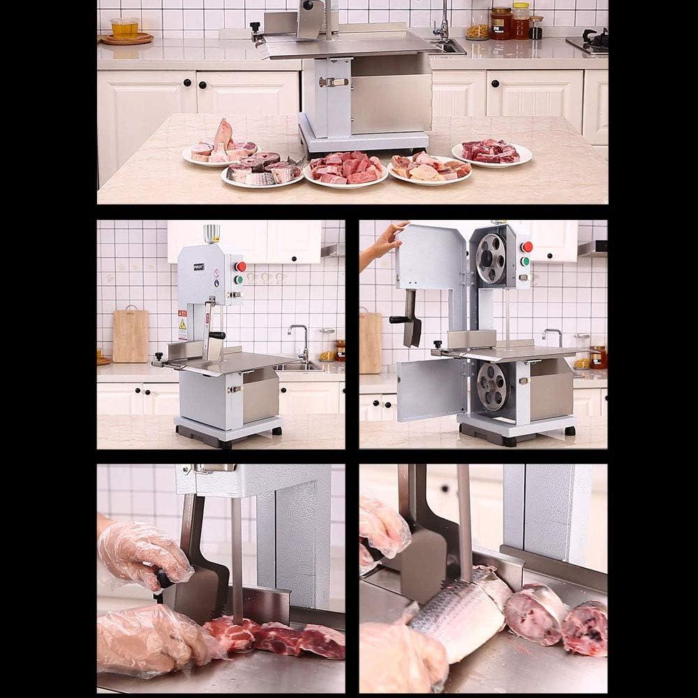 Serrar El/éctrica Bone Machine Carnicero Sierras De Cinta Picadora Comercial Mesa Bone M/áquina De Corte Puede Descomponer De Carne Congelada 750W Huesos Y Otros Ingredientes Duro 220V