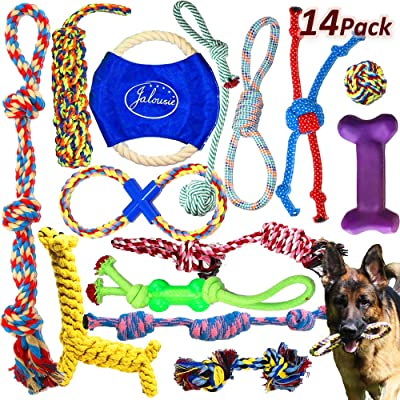 Jalousie Dog Rope Toys Dog Toy Assortment Puppy Chew Dog Rope Toy Nearly Indestructible Rope Toy Assortment
