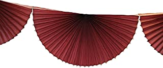 product image for 10 Foot Tissue Paper Bunting Garland (Maroon)