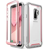 i-Blason Case for Galaxy S9+ Plus 2018 Release, [Ares] Full-body Rugged Clear Bumper Case with Built-in Screen Protector (Pink)