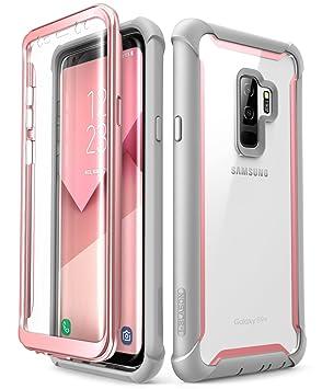 i-Blason Funda Samsung Galaxy S9 Plus [Ares] Transparente Case 360 Grados Carcasa con Protector de Pantalla Incorporada para Samsung Galaxy S9 + Plus ...