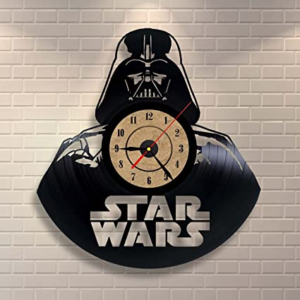 Vinyl Record Clock Star Wars Bedroom Wall Decor