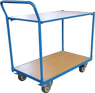 Carro de mesa, carro de montaje, capacidad de carga 300 kg, 2 ...