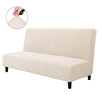 Stupendous Chun Yi Armless Sofa Slipcover Elastic Fitted Full Folding Sofa Bed Cover Without Armrests Removable Machine Washable Non Slip Furniture Protector For Download Free Architecture Designs Scobabritishbridgeorg