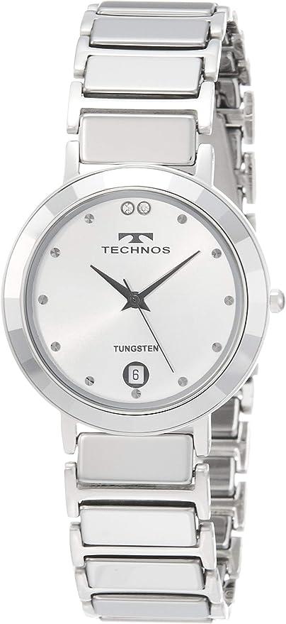 [テクノス] 腕時計 3針 デイト T9654CS メンズ シルバー