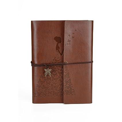 Amazon Diy Photo Album Self Adhesive Small Leather Scrapbook