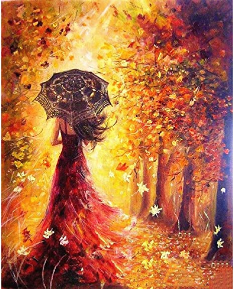YXQSED Framless DIY Oil Painting Paint by Number Kit for Adults Kids 9 Lives with you 16X20 Inch