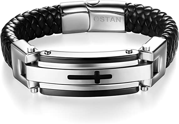 Men/'s Fantastic Silver Stainless Steel Cuff Wristband Bangle Boy/'s Cool Bracelet