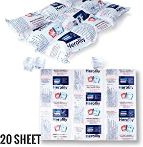 """HEROLILY Reusable (HDR) Heat & Ice Sheets Packs, Extreme Freeze Cooler, for Food Hiking Camping Outdoor, 16"""" x 11"""" 4 Ply Re-freezable Non Toxic Leakproof Refrigerant Pack"""
