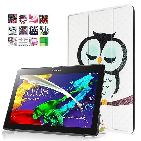 cheaper ca662 52820 Lenovo Tab3 10 Plus Case,Lenovo Tab2 A10 Cover,Lenovo Tab2 A10-30 CaseCase  for Lenovo Tab2 A10-30 Tablet,Lenovo Tab 3 10 Cover,Stand Folio Cover Slim  ...