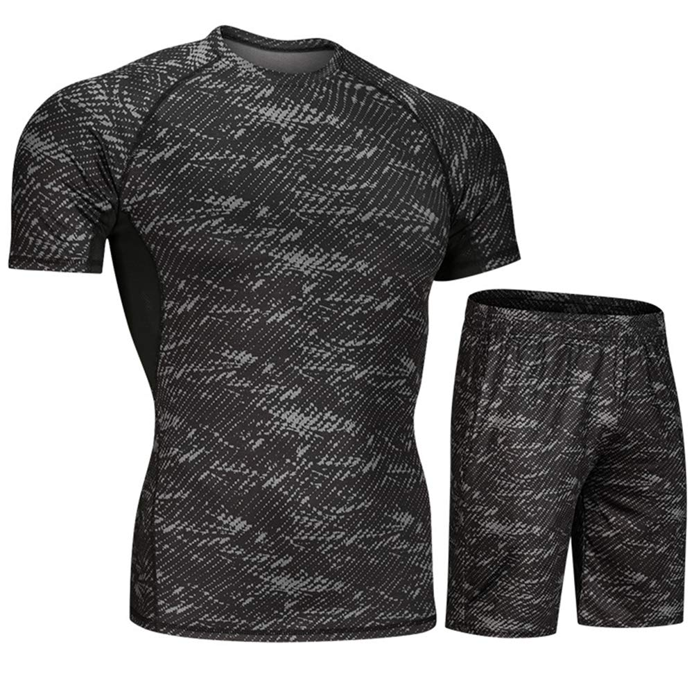 Mens Sports Fitness Set Breathable Quick-Drying Set Soft Breathable Swimsuit