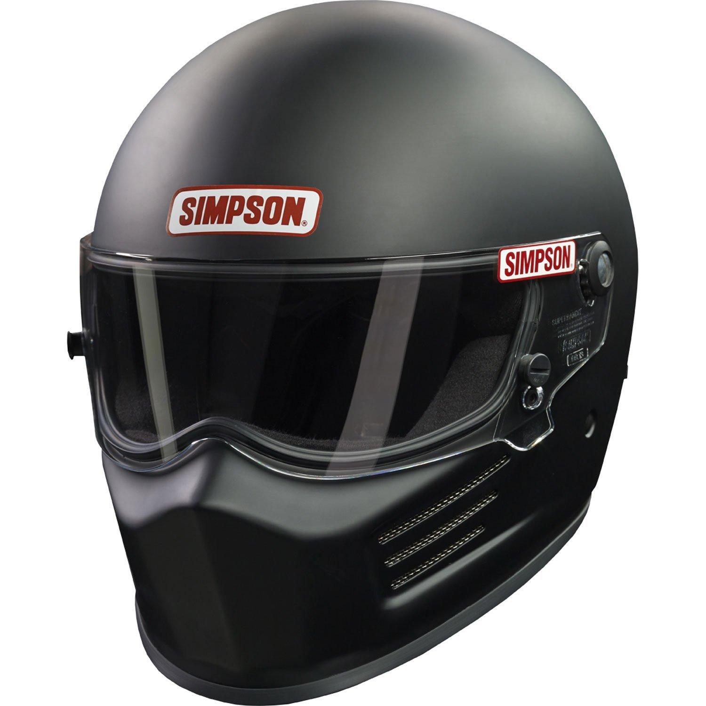 Simpson 6200028 Helmet, Flat Black, Medium
