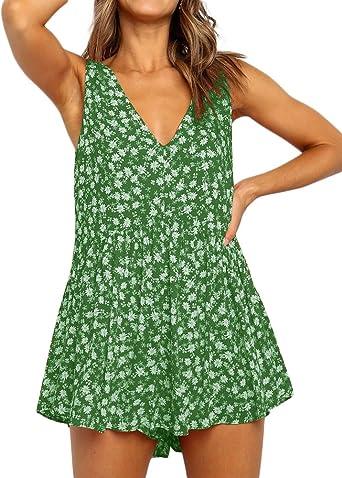 New Women V-neck Party Clubwear Short Sleeve Jumpsuit Loose Wide Leg Romper JJ