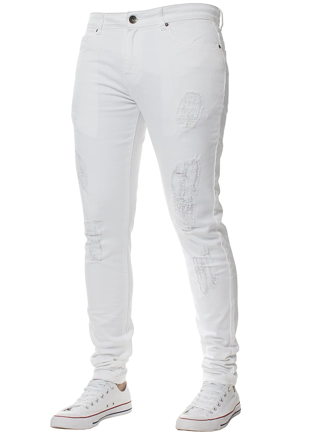 Range of Waist Sizes and Colours Available Enzo Super Skinny Stretch Jeans for Men Denim
