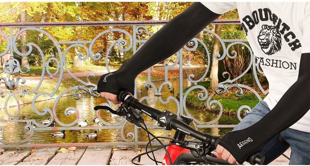 Brazo mangas, aegend Cool brazo mangas de protección UV para ...