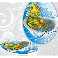 StickerProfis 'Asiento de inodoro pegatinas Tortuga en bañera