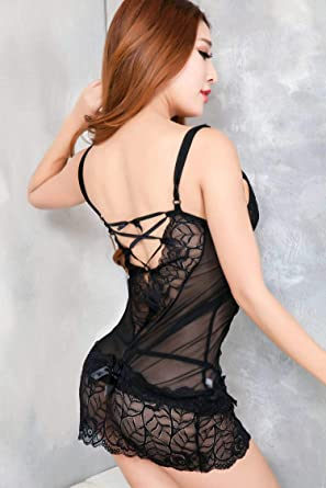 2018 New hot Sexy Underwear Women Sexy Lingerie Ladies Lace Transparent  Night Dress Suit Erotic Costume 7d69faf13
