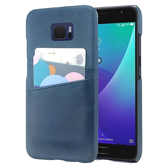 lowest price 40138 5da25 Asus Zenfone V Case, Lacass Slim Fit Hard Back Synthetic Leather Wallet  Case Cover with 2 Card Holder Slots for Asus ZenFone V V520KL (5.2